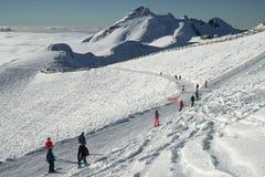 A inclinação do sul de Rosa Peak 2320 mede acima do nível do mar na estância de esqui Imagens de Stock Royalty Free