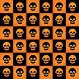 Inclinação do teste padrão da xadrez dos crânios Imagens de Stock Royalty Free