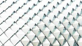 Inclinação dobrado do branco do teste padrão do retângulo quadrado abstrato Imagens de Stock Royalty Free