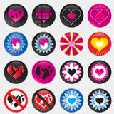 Inclinação eps dos corações do Valentim Fotos de Stock Royalty Free