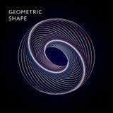 Inclinação geométrico da ilustração do gráfico de vetor da forma Fotografia de Stock Royalty Free