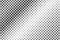 Inclinação pontilhado desvanecido escasso branco preto Fundo da reticulação ilustração royalty free