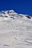 Inclinações do esqui Fotos de Stock