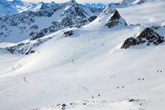 Inclinações do esqui Foto de Stock