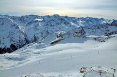 Inclinações do esqui Imagens de Stock Royalty Free
