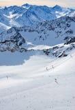 Inclinações do esqui Imagem de Stock Royalty Free