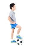 Inclinações simples do arquivo do futebol boy Fotos de Stock