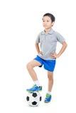 Inclinações simples do arquivo do futebol boy Imagens de Stock