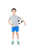 Inclinações simples do arquivo do futebol boy Foto de Stock Royalty Free