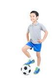 Inclinações simples do arquivo do futebol boy Imagem de Stock Royalty Free