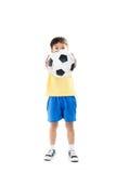 Inclinações simples do arquivo do futebol boy Imagem de Stock