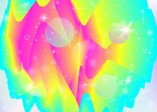 Inclinações vibrantes no fundo do arco-íris Líquido dinâmico holográfico Holograma do cosmos ilustração royalty free