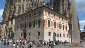 Inclinación del castillo de Praga, Praga almacen de video