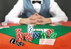 Inclinación del póker Fotografía de archivo libre de regalías