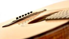 Inclinado diagonal da peça das cordas da guitarra acústica doze Imagem de Stock Royalty Free