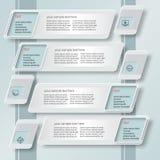 Inclinaison abstraite d'Infographics du papier 3D Photos libres de droits