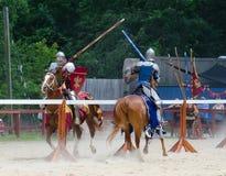 Inclinando os cavaleiros 2 Fotografia de Stock