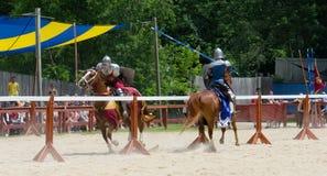 Inclinando os cavaleiros 3 Fotografia de Stock