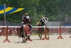 Inclinando os cavaleiros 4 Fotografia de Stock Royalty Free