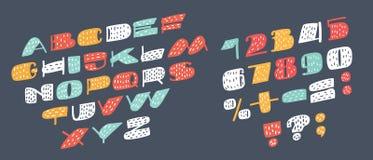 Inclinato senza Serif Font illustrazione vettoriale