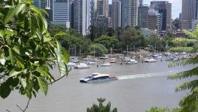 Inclinazione di Brisbane della città archivi video