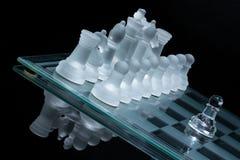 Inclinazione di scacchi Fotografia Stock