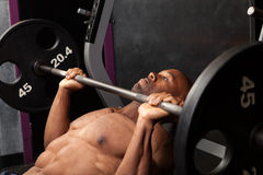 Incline Bench Pressing Royalty Free Stock Photography