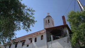 Incline de iglesia en el skala Marion Thassos Grecia almacen de video