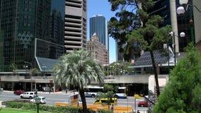 Incline de una estatua en la capilla de la conmemoración, cuadrado de ANZAC en Brisbane almacen de video