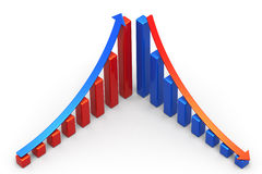Incline and Decline Royalty Free Stock Photo