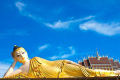 Inclined Buddha Royalty Free Stock Images