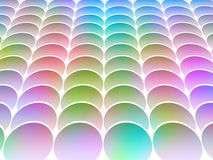 Inclined colored circles Royalty Free Stock Image