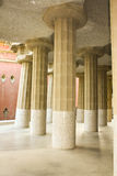 Inclined Columns Hipostila Room. Royalty Free Stock Photos