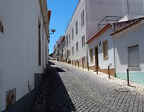 Street Scene In Lagos Portugal royalty free stock photography