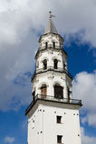 Inclined tower in the city of Nevyansk . Russia Royalty Free Stock Photos