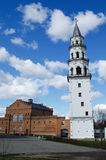 Inclined tower in the city of Nevyansk . Russia Stock Photos