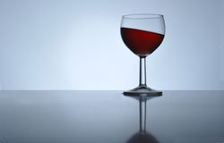 Inclined Wine Royalty Free Stock Image