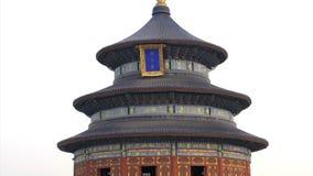 Inclinez jusqu'au dessus du temple du Ciel dans Pékin banque de vidéos