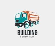 Inclinez le logo abstrait d'icône de camion sur le fond blanc illustration stock
