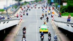 Inclinez le trafic de faute de décalage/temps sur l'autoroute dans Ho Chi Minh City Vietnam du centre banque de vidéos