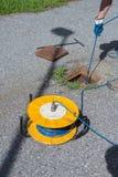Inclinometer testing Stock Photo