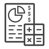 Inclua no orçamento a linha de aplanamento ícone, negócio e finança ilustração royalty free