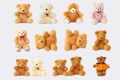 Inclua o urso de peluche bonito e bonito imagens de stock