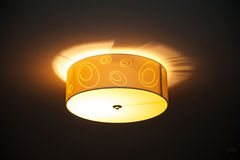 Included a beautiful round lamp in the room Royalty Free Stock Photos