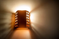 Included a beautiful wall lamp in the room Royalty Free Stock Photography
