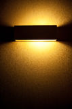 Included a beautiful wall lamp in the room Royalty Free Stock Photos