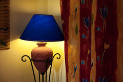 Included a beautiful wall lamp in the room Stock Photography