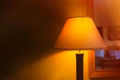 Included a beautiful wall lamp in the room Stock Image