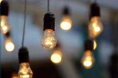 Included hanging electric lamp Royalty Free Stock Image