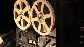 Included reel tape recorder stock video footage